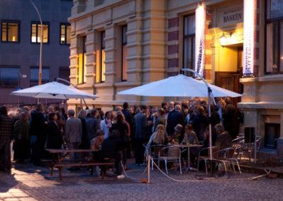 Norsk Litteraturfestival; Banknatta ute. Foto: Tor Alver Moen, LKK