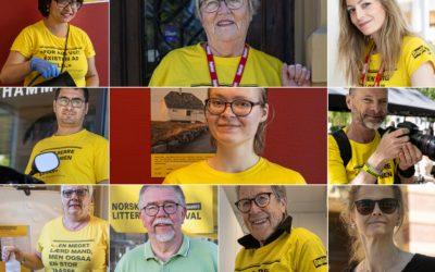 Det gule gullet – møt litteraturfestivalens frivillige!